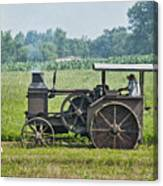 Steam Engine Plowing Canvas Print