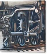 Steam Engine Wheels Canvas Print