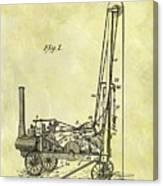 Steam Powered Oil Well Patent Canvas Print