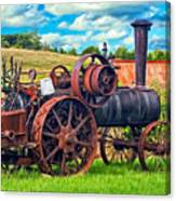 Steam Powered Tractor - Paint Canvas Print