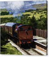 Steam Train 2 Oil Painting Effect Canvas Print