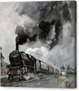 Steam Train At Garsdale - Cumbria Canvas Print