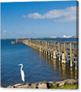 Steamboat Landing Ot Melbourne Beach In Florida  Canvas Print