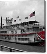 Steamboat Natchez Black And White Canvas Print