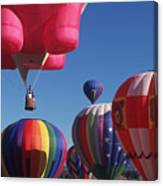 Steamboat Springs Balloons Canvas Print