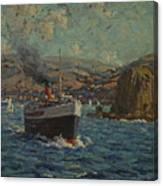Steamer Leaving Avalon. Catalina Island Canvas Print