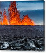 Steaming Lava And Plumes Canvas Print