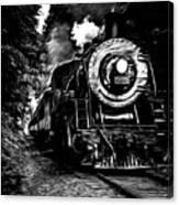 Steaming Through The Pass Canvas Print
