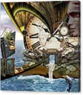 Steampunk Dragon Library Canvas Print