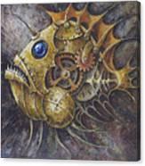 Steampunk Fish A Canvas Print