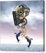 Steampunk Ocean Tale Canvas Print