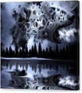 Steampunk Polar Bear Landscape Canvas Print