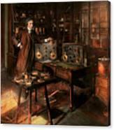 Steampunk - The Time Traveler 1920 Canvas Print