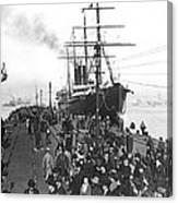 Steamship In Japan Canvas Print
