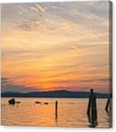 Steamy Hudson River Sunrise Canvas Print