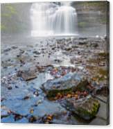Steamy Morning At Pixley Falls Canvas Print