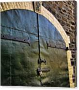 Steel Doors Canvas Print