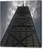 Steel Grey Skyrise Chicago Canvas Print