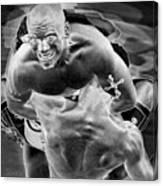 Steel Men Fighting 2 Canvas Print