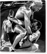Steel Men Fighting 5 Canvas Print