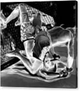 Steel Men Fighting 7 Canvas Print