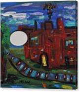 Steel Mill Nocturne Canvas Print
