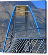 Steel Pedestrian Bridge In Ibarra Canvas Print