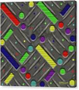 Steel Plate Geometrics Canvas Print