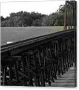 Steel Rails Canvas Print