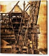 Steelmill Boatdock Cranes Detroit Canvas Print