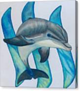 Steemit Dolphin Canvas Print