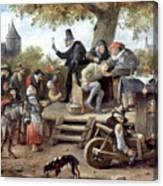 Steen: Quack, 17th Century Canvas Print