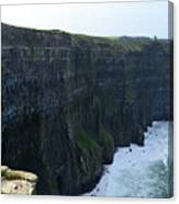 Steep Sheer Sea Cliff's Known As The Cliff's Of Moher Canvas Print