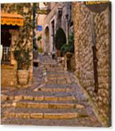 Steep Street In St Paul De Vence Canvas Print