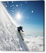 Steep Summer Volcano Skiing Canvas Print