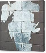 Steer Skull Abstract Canvas Print
