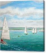 'steer The Course' - West Kirby Marine Lake, Wirral Canvas Print