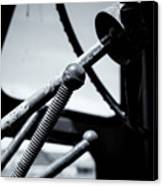 Steering Column Of Direction Canvas Print