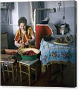 Stefania Cleans Strawberries In Chortkiw Ukraine Canvas Print
