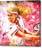Steffi Graf Madness Canvas Print