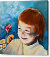 Stefi- My Trip To Holland - Red Headed Angel Canvas Print