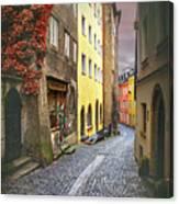 Steingasse Street Salzburg Austria  Canvas Print