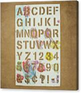 Stencil Alphabet Fun Canvas Print