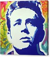 Stencil James Dean Canvas Print