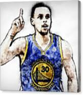 Steph Curry, Golden State Warriors - 20 Canvas Print