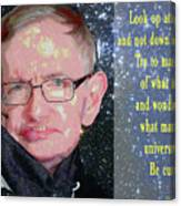 Stephen Hawking Poster Canvas Print