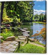 Stepping Stones Japanese Garden Maymont Canvas Print