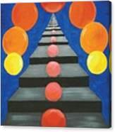 Steps And Circles Canvas Print