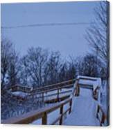 Steps Into Winter Canvas Print