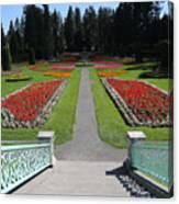 Steps To Duncan Garden Canvas Print